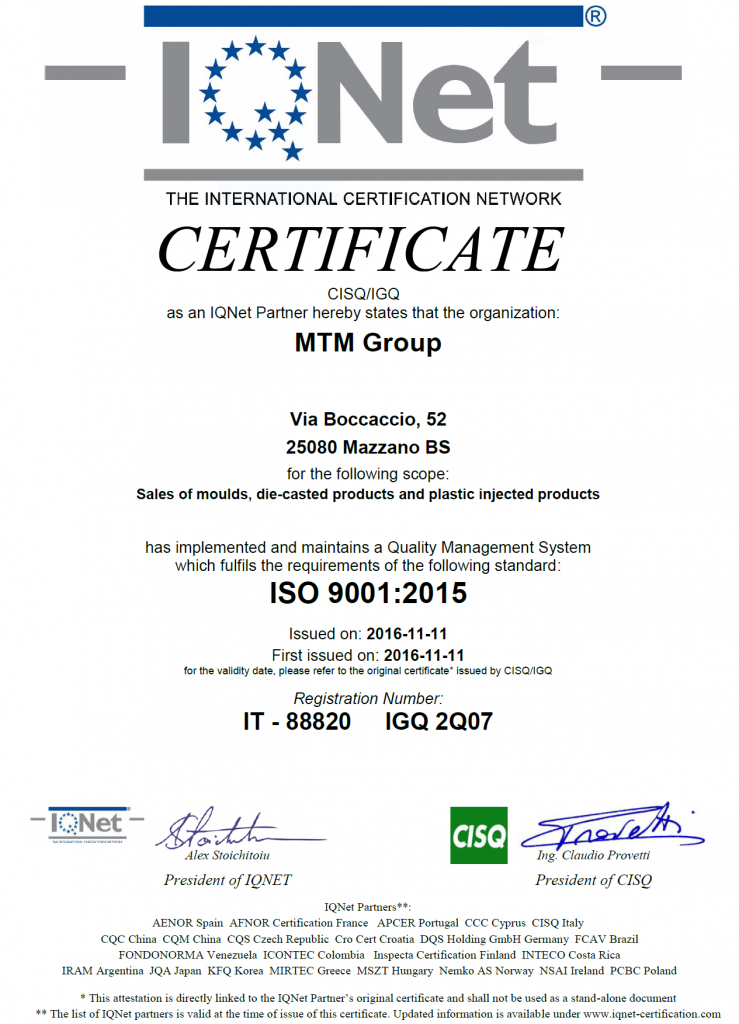 ISO 9001:2015 - MTM Group